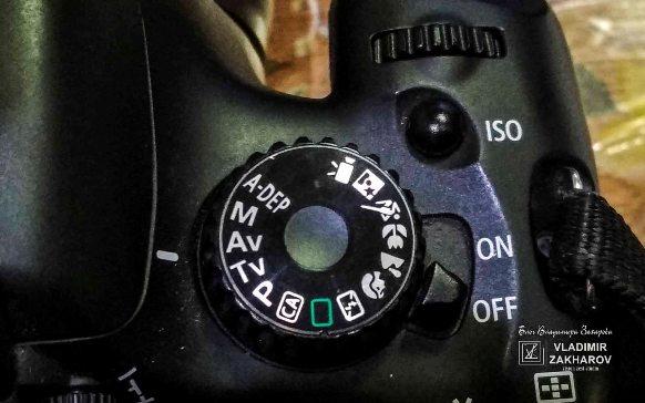 Кнопка ISO в Canon