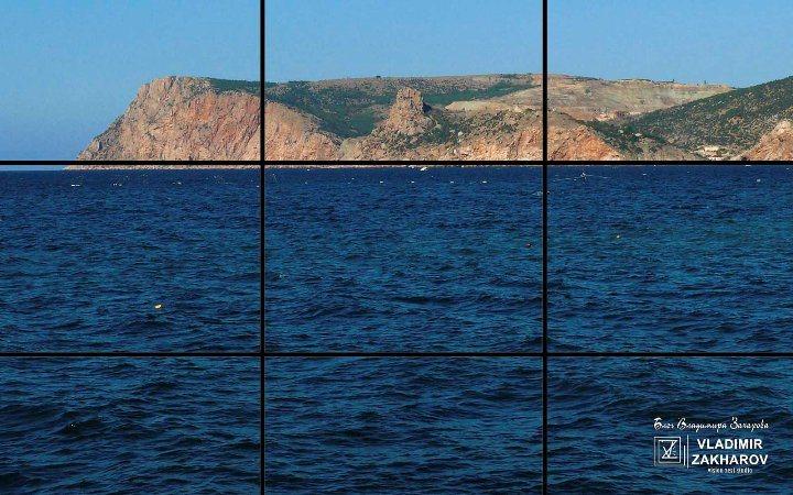 Морской пейзаж, правило третей