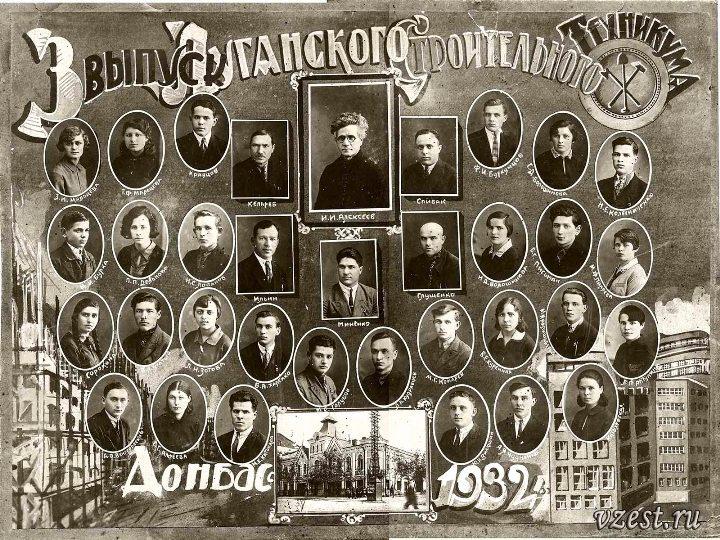 Строительный техникум, выпуск-1932