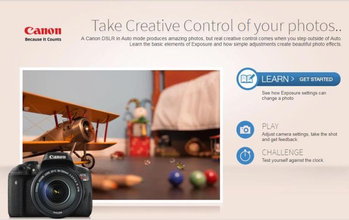 Онлайн симулятор фотоаппарата от Canon 2..